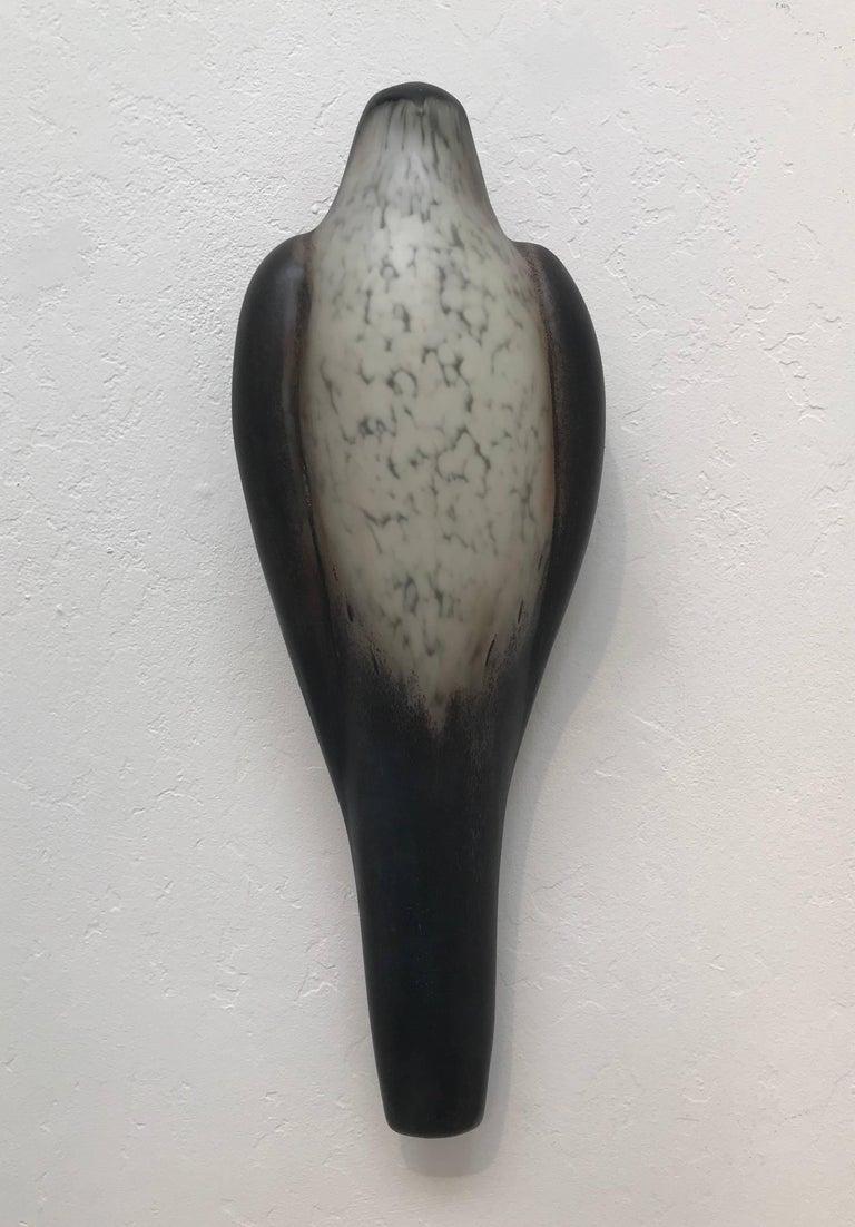 Jane Rosen Figurative Sculpture - Black Tail Wall Bird