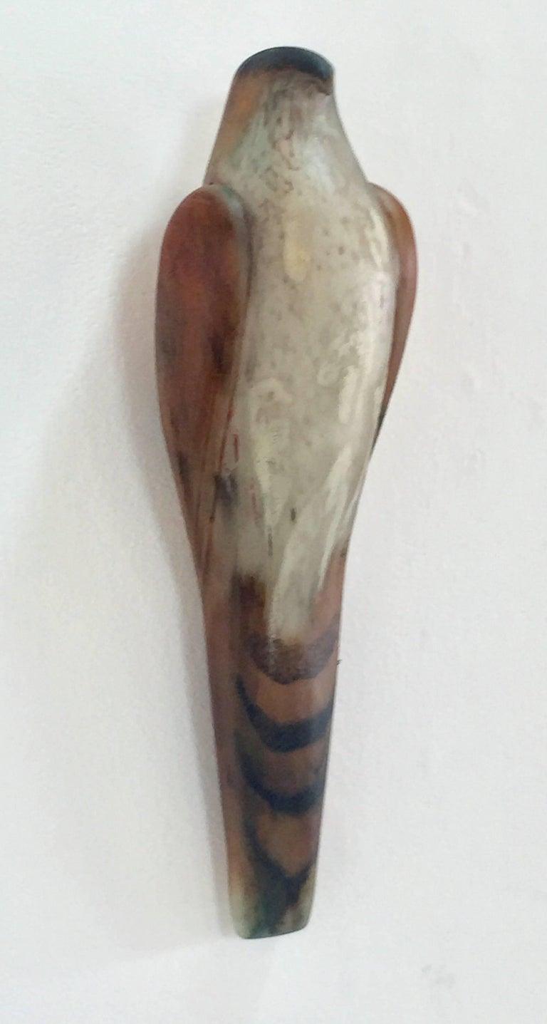 Divot Kestrel Wall Bird - Sculpture by Jane Rosen
