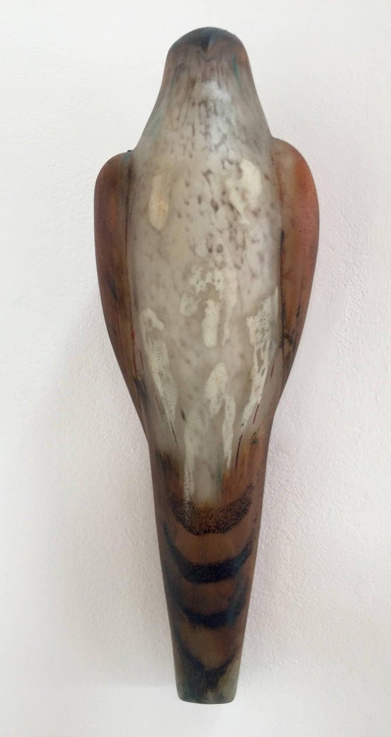 Jane Rosen Still-Life Sculpture - Divot Kestrel Wall Bird