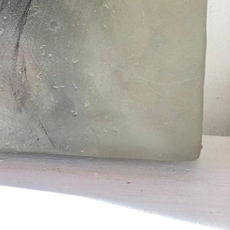 Hawk on Glass - Sculpture by Jane Rosen