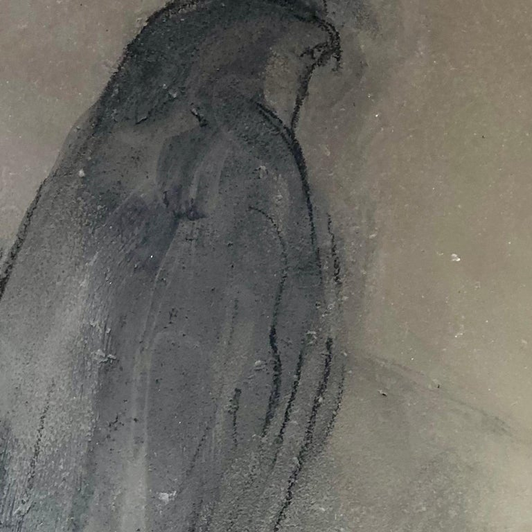 Hawk on Glass - Gray Still-Life Sculpture by Jane Rosen