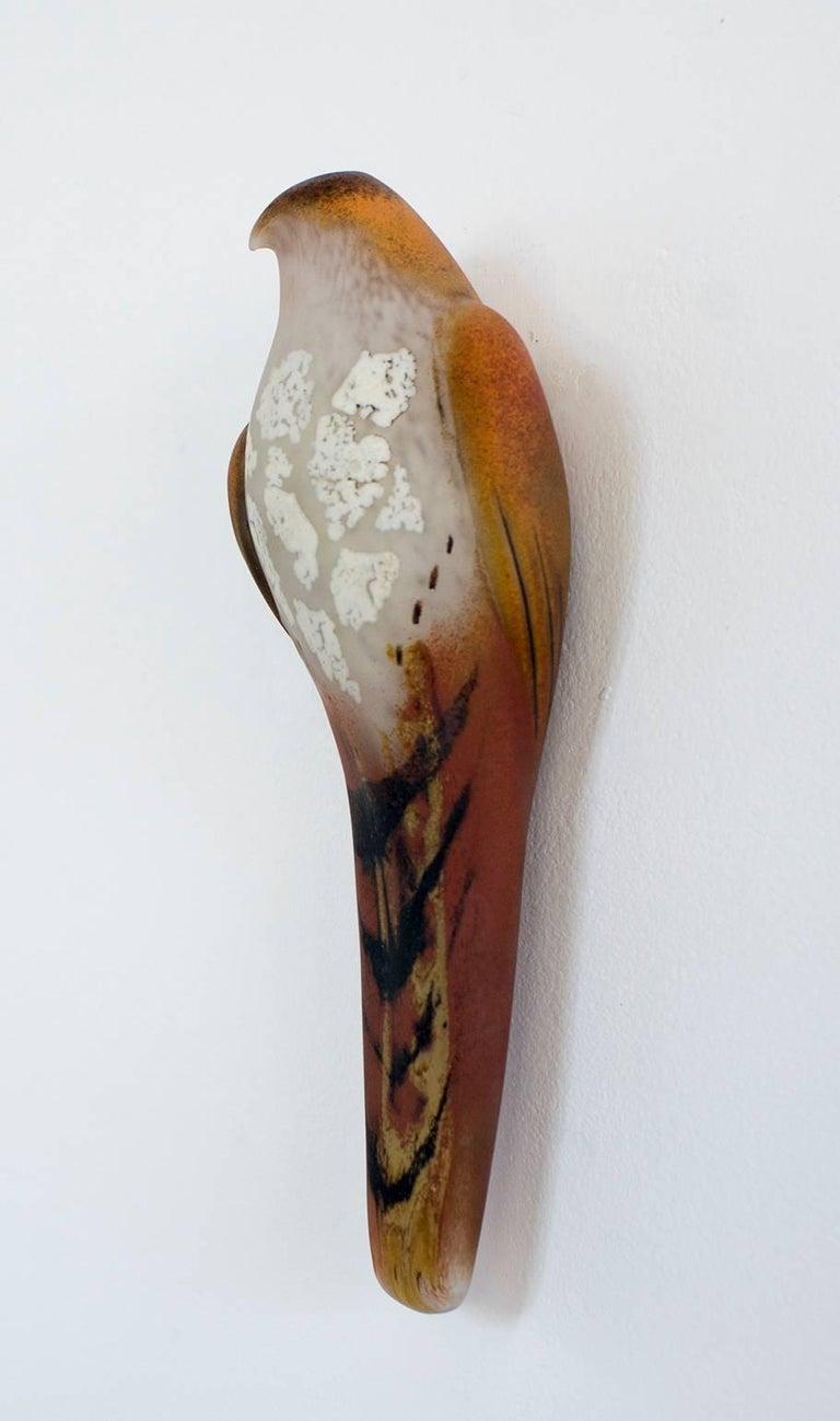 Lace Watercolor Wall Bird - Sculpture by Jane Rosen