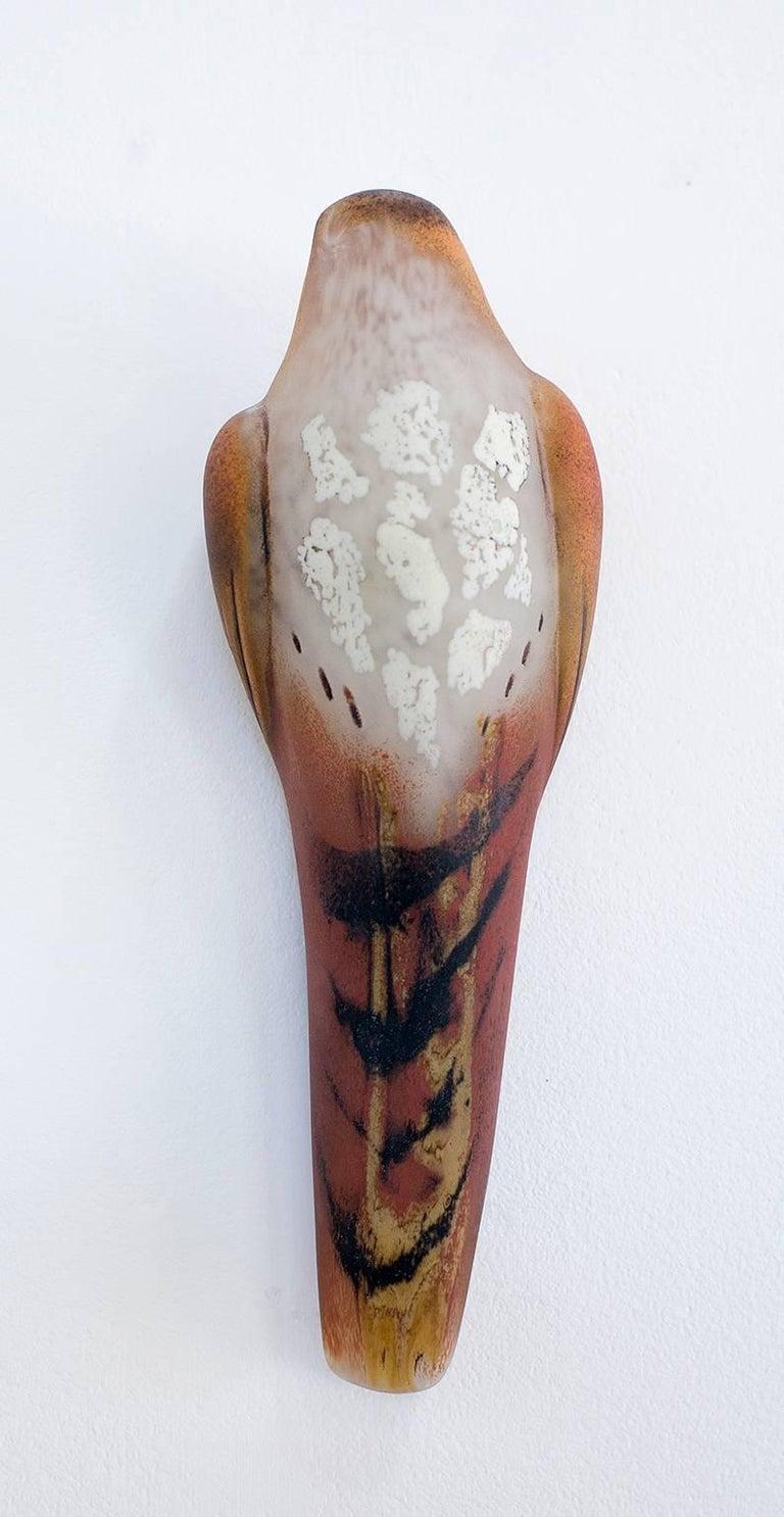 Jane Rosen Still-Life Sculpture - Lace Watercolor Wall Bird