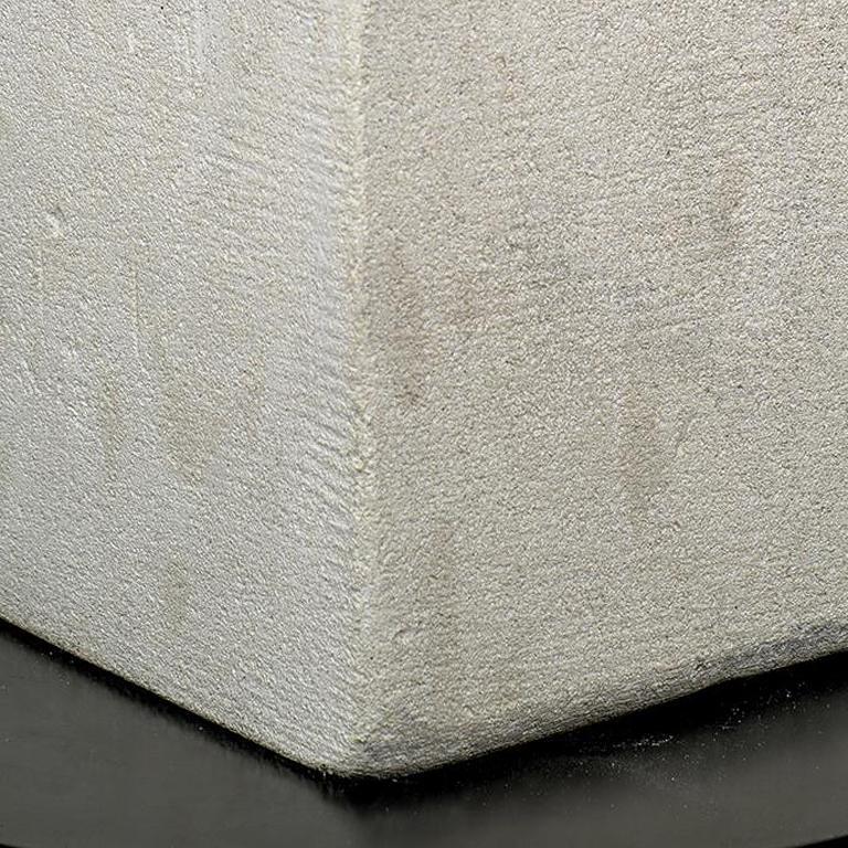 Painted limestone.  From the artist's studio. Bird:  7 1/2