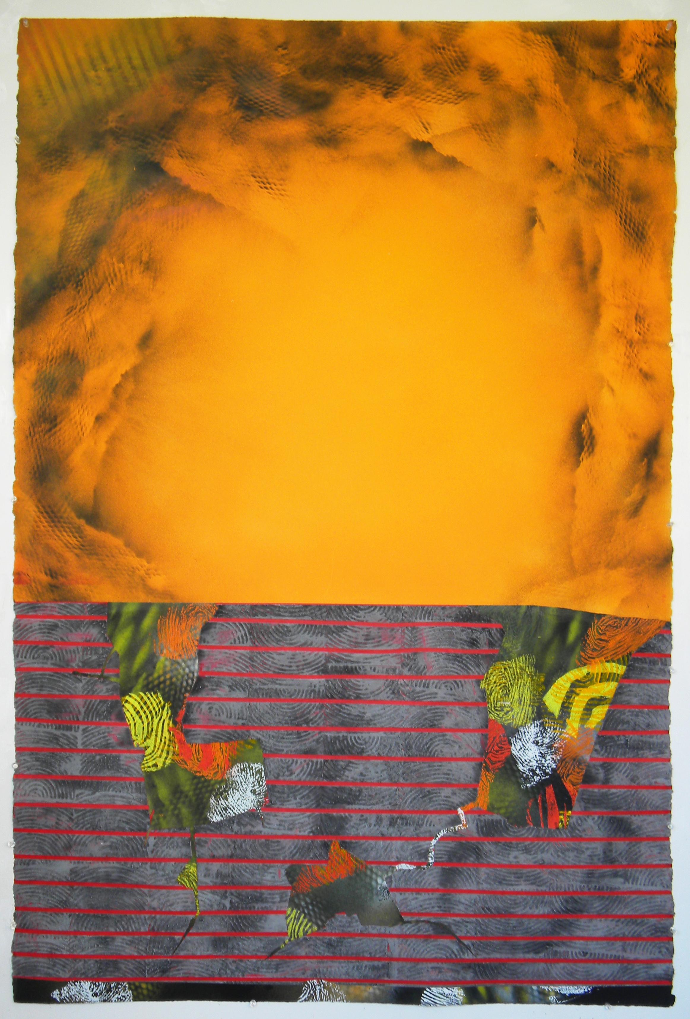 Jane Sangerman_ Seethe D73, 2018, Acrylic, Spray Paint,  Abstraction
