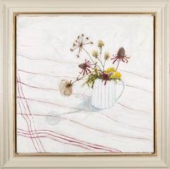 Sticks and Stems, Jane Skingley, still life oil painting flower 2021