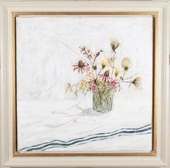 Summer Remembered, Jane Skingley, still life oil painting flower