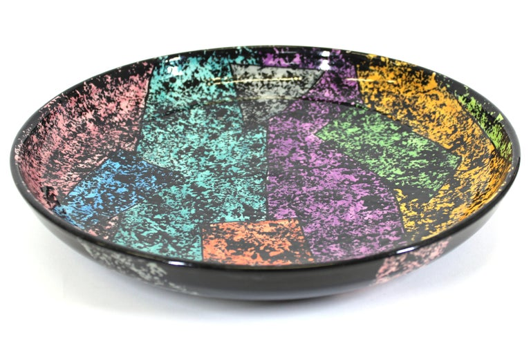 Late 20th Century Jane Willingale English Postmodern Charger Plate For Sale