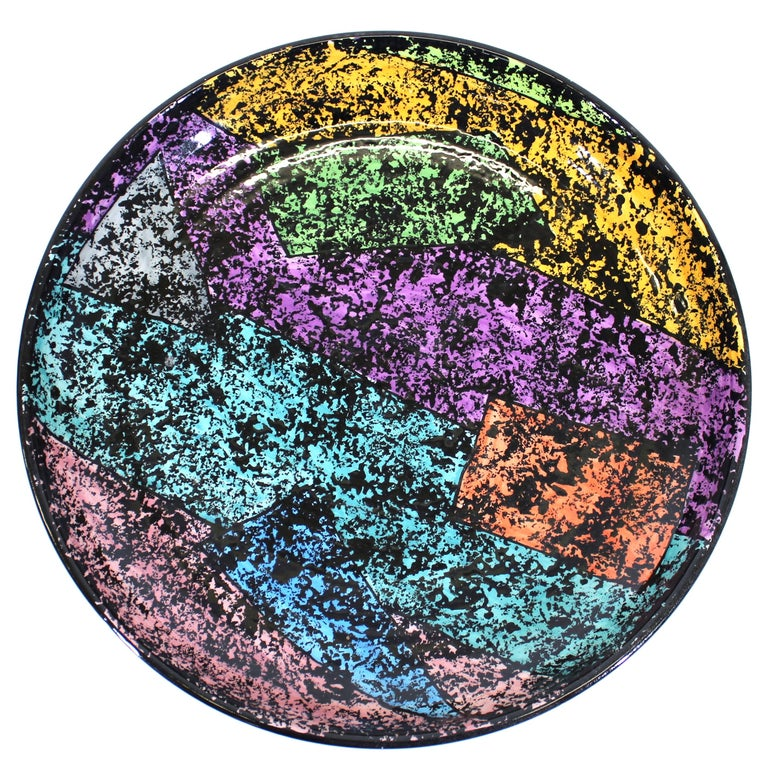 Jane Willingale English Postmodern Charger Plate For Sale
