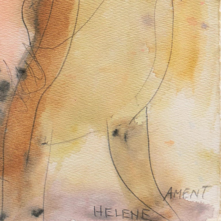 'Seated Nude', Musee d'Art Moderne, Paris, SFAA, LACMA, California Woman Artist - Painting by Janet Ament De La Roche