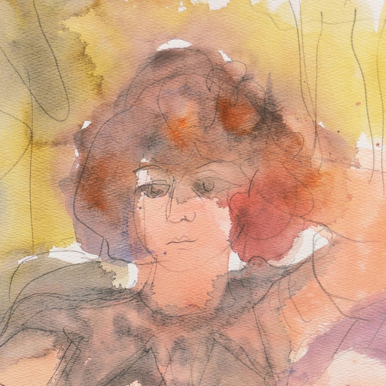 Signed lower right, 'Ament' for Janet Ament De La Roche (American, 1916-2000) and titled, 'Helene'; additionally bearing artist's estate stamp verso.  Winner of the Prix Othon Friesz, Ament first studied at the Chouinard Art Institute and,