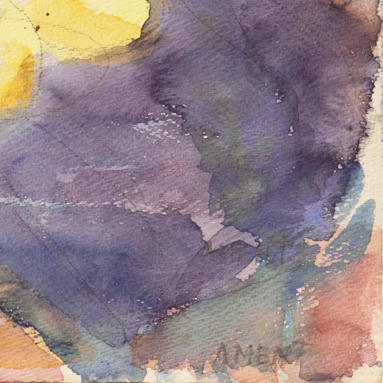 California Post-Impressionist Still Life, 'Irises', LACMA, MAM Paris - Painting by Janet Ament De La Roche