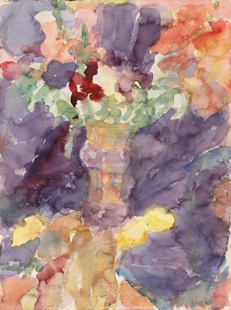 Janet Ament De La Roche Still-Life Painting - California Post-Impressionist Still Life, 'Irises', LACMA, MAM Paris