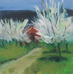 Blossoming Trees and Path, Provence
