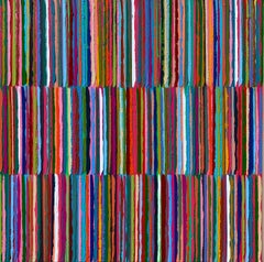 Triple Stripes B, Abstract Oil Painting