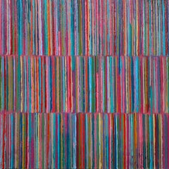 Triple Stripes C, Abstract Oil Painting