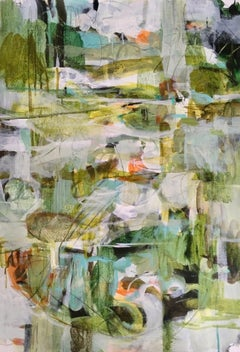 Green Garden, Janet Keith, Original Abstract Forest Artwork, Affordable Art