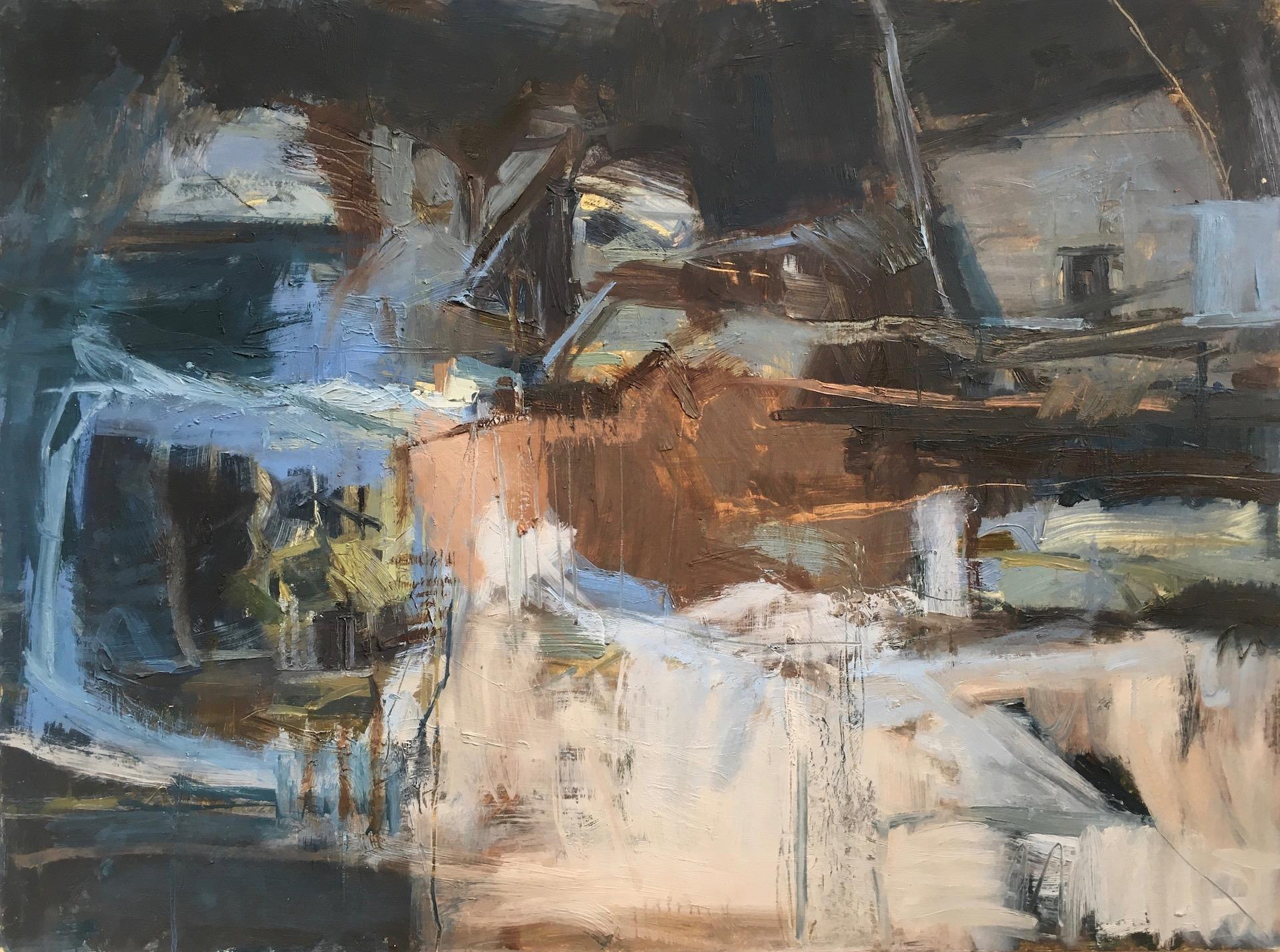 Janet Keith, Edge of the Earth, Original Abstract Landscape Painting