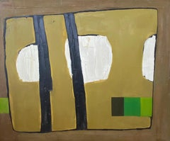 """Barrier""  Abstract SANTA FE , NEW MEXICO ARTIST HUGE PAINTING"