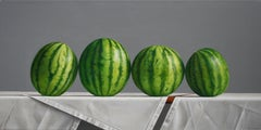 Watermelons with Vertical Stripes