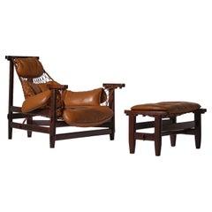 'Jangada' Lounge Chair and Ottoman by Jean Gillon, Brazil, 1968