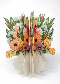 """Sevres Flower Bowl Book"", Contemporary, Porcelain, Mixed Media, Sculpture"