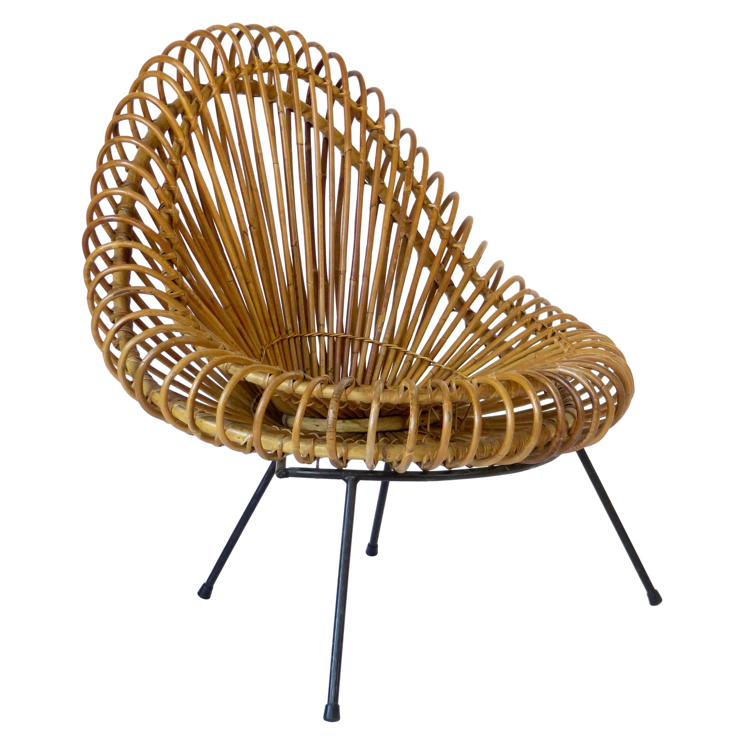 Janine Abraham and Dirk Jan Rol Rattan Lounge Chair Edition Rougier