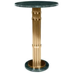 Janis Bar Table in Marble and Polished Brass by Essential Home