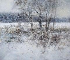 Heavy snow, 2021. Oil on canvas, 49x57 cm