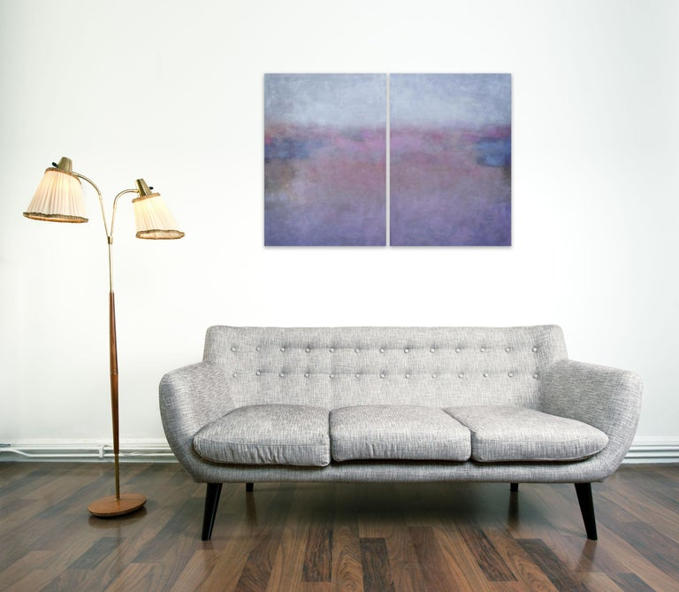 Clair de Lune (Abstract painting) - Painting by Janise Yntema