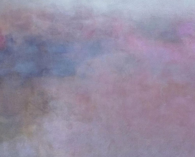 Clair de Lune (Abstract painting) - Gray Abstract Painting by Janise Yntema