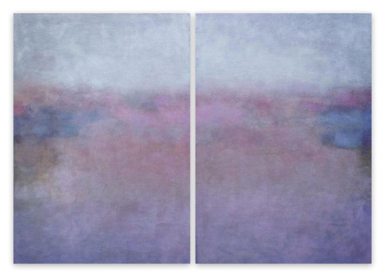 Janise Yntema Abstract Painting - Clair de Lune (Abstract painting)