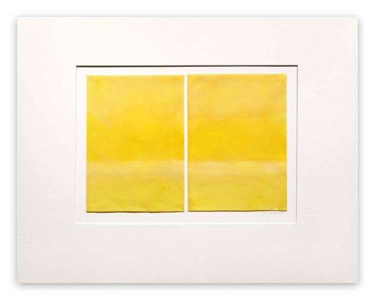Janise Yntema Abstract Painting - Lemon Yellow
