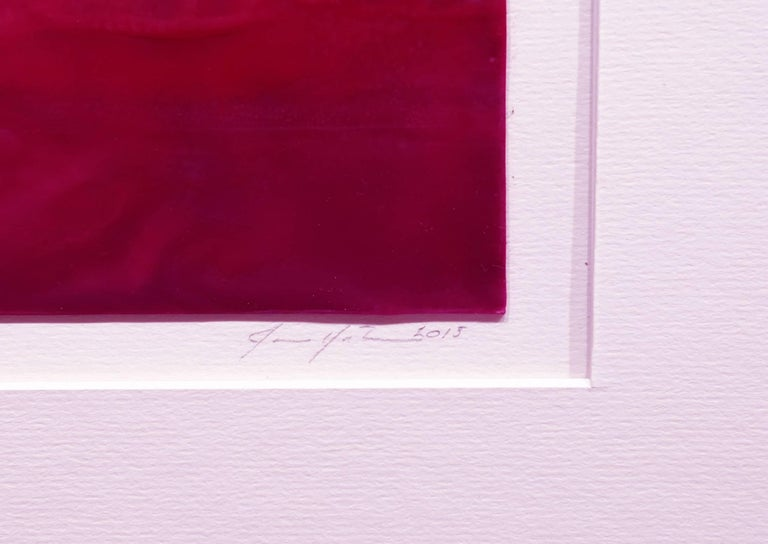 Rose Madder - Abstract Painting by Janise Yntema