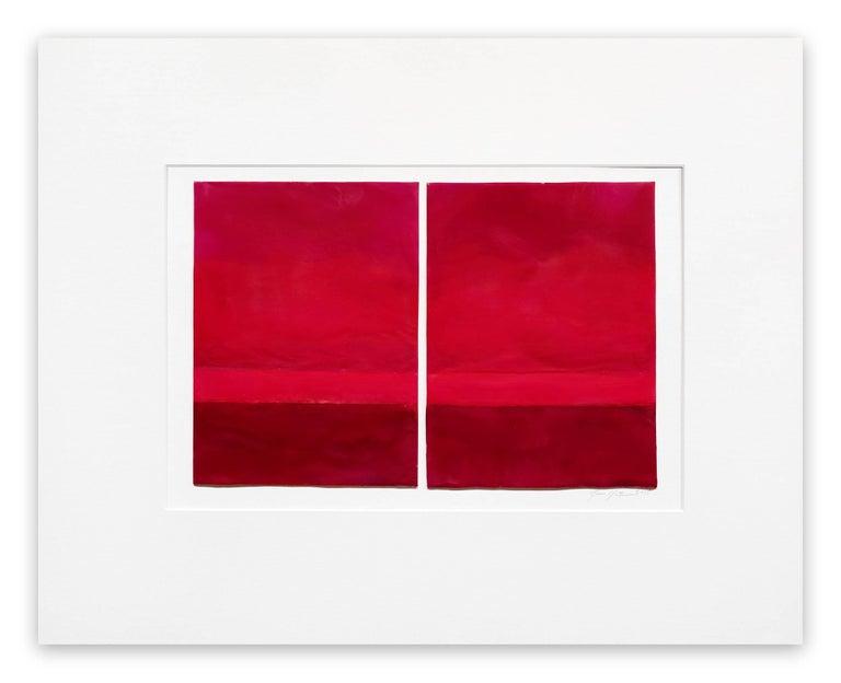 Janise Yntema Abstract Painting - Vermillion
