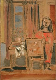 Woman in Interior painting by Jankel Adler