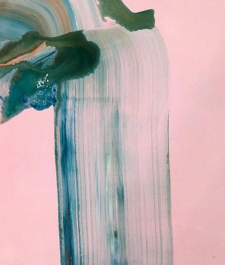Early Grey, Janna Watson, Mixed Media on Panel, 2018  - Beige Abstract Painting by Janna Watson