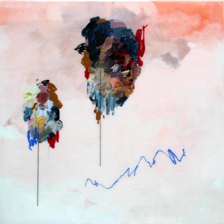 Untitled, Janna Watson, 2018, Mixed Media on Panel with Resin - Painting by Janna Watson