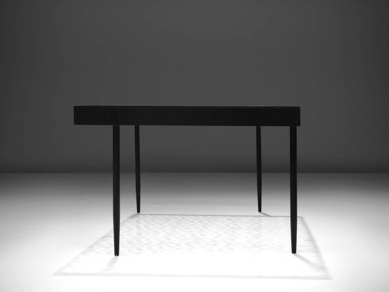 Dutch Janni Van Pelt Coffee Table in Metal and Glass For Sale