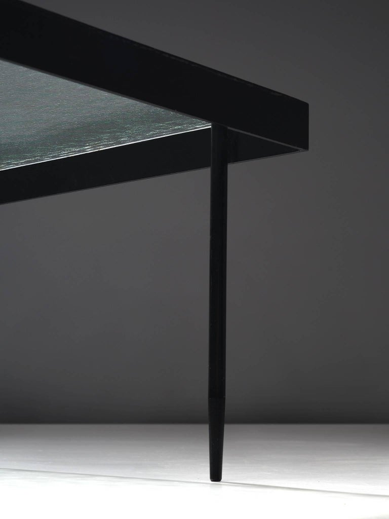 Mid-20th Century Janni Van Pelt Coffee Table in Metal and Glass
