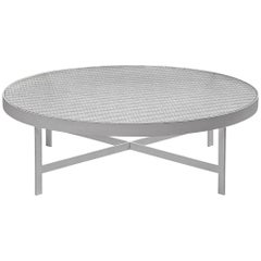 Janni Van Pelt Round Coffee Table in Metal and Glass