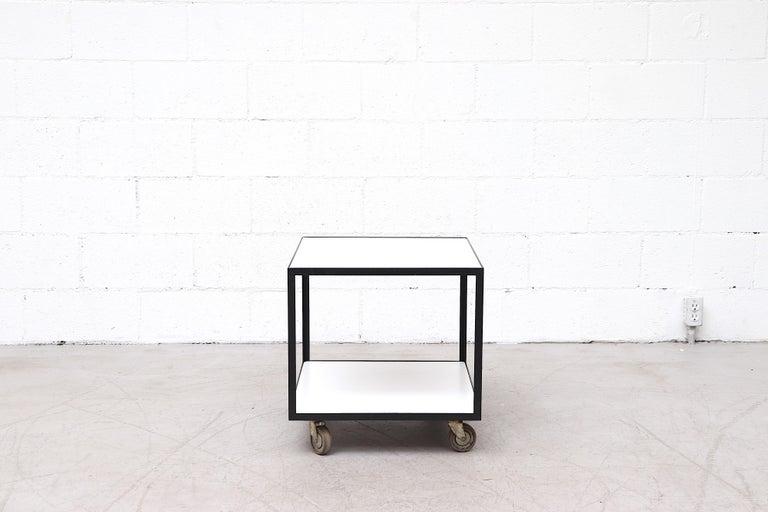 Mid-Century Modern Janni Van Pelt Style Rolling Cart For Sale