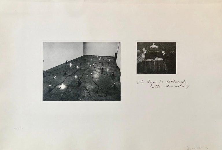 Photo Lithograph Jannis Kounellis Arte Povera Italian Avant Garde Etching - White Black and White Photograph by Jannis Kounellis