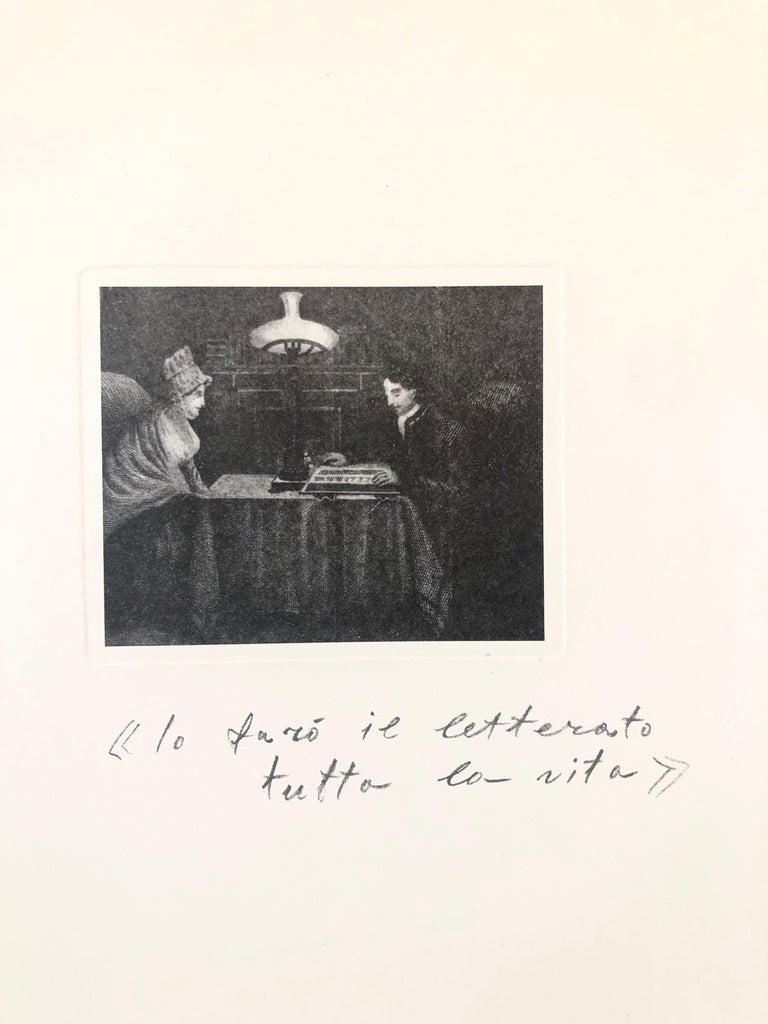 'Lo faro il litterato tutta la vita' Photo Lithography on rag paper hand signed lower right in pencil: Kounellis numbered 37/90. Provenance: The Collection of Ileana Sonnabend (Mrs Leo Castelli) & the Estate of Nina Castelli Sundell I have seen this