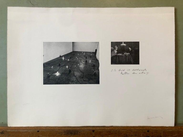Photo Lithograph Jannis Kounellis Arte Povera Italian Avant Garde Etching For Sale 5