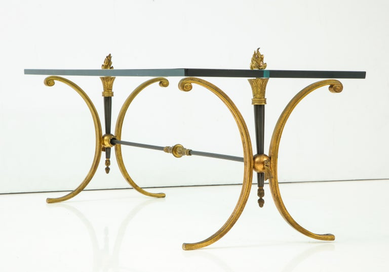 Bronze Jansen Empire Style Coffee Table For Sale