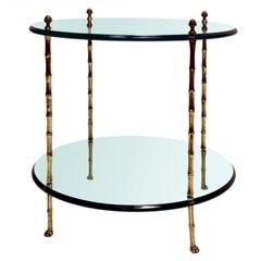 Jansen Faux Bamboo Side Table