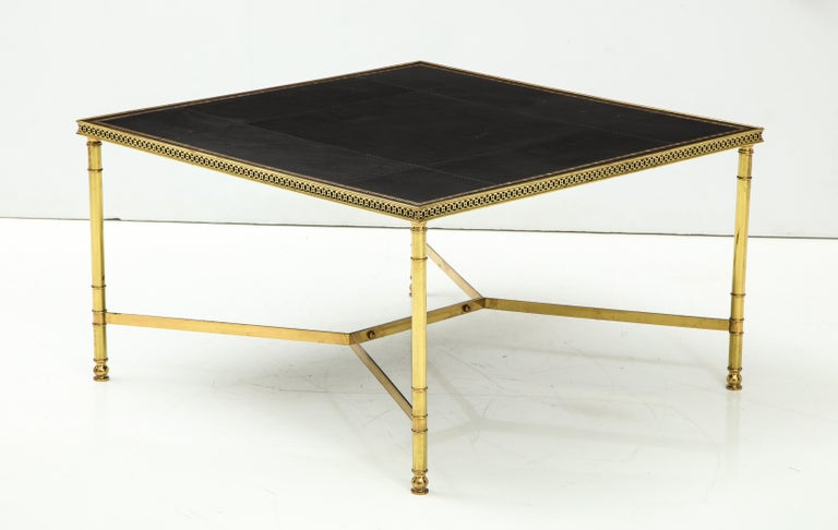 Jansen Leather Coffee Table For Sale 8