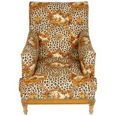 Jansen Style Upholstered Vintage Armchair