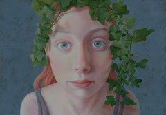 Evy- 21st Century Contemporary Portrait of a young Girl with Beautiful Eyes